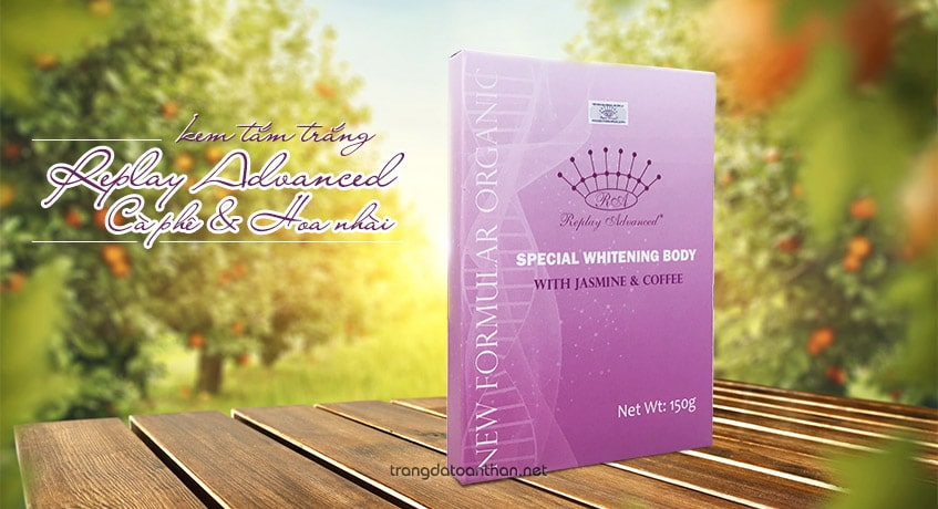 Kem tắm trắng Replay Advanced Special Whitening Body With Jasmine & Coffee